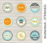 vintage labels template set ... | Shutterstock .eps vector #273461621
