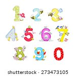 illustration of funny numbers | Shutterstock . vector #273473105