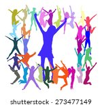 jumping people | Shutterstock .eps vector #273477149