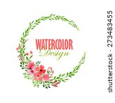 Watercolor Floral Wreath....