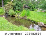 Stream In A Garden