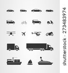 transport icons set  cars... | Shutterstock .eps vector #273483974