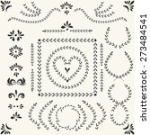 set of vector decorative... | Shutterstock .eps vector #273484541