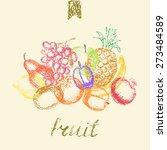 Hand Drawn Fruit Background....