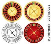 vector illustration of roulette ... | Shutterstock .eps vector #273487211