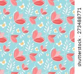 floral vector seamless pattern... | Shutterstock .eps vector #273488771