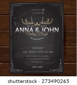 vintage card  for invitation or ... | Shutterstock .eps vector #273490265