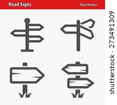 road signs icons. professional  ...