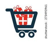 shopping icon design  vector... | Shutterstock .eps vector #273493961