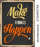 "retro metal sign ""makes things... 