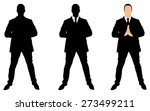successful businessman doing... | Shutterstock .eps vector #273499211