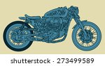 vintage motorcycle hand drawn... | Shutterstock .eps vector #273499589