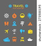 vector flat icon set   travel