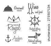 set of logo and logotype... | Shutterstock .eps vector #273507134