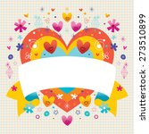 blank ribbon with cute hearts | Shutterstock .eps vector #273510899