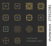 set of vintage frames for... | Shutterstock .eps vector #273512381