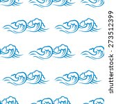 seamless pattern of blue and... | Shutterstock . vector #273512399