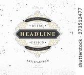 vintage frame for luxury logos  ...   Shutterstock .eps vector #273512477