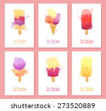 set of six cards with... | Shutterstock .eps vector #273520889