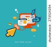hand drawn cursor pay per click | Shutterstock .eps vector #273524354