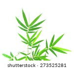 green bamboo leaves on a white... | Shutterstock . vector #273525281