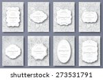 set of wedding card flyer pages ... | Shutterstock .eps vector #273531791