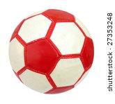 ball football soccer red and... | Shutterstock . vector #27353248