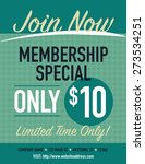 join now membership special... | Shutterstock .eps vector #273534251