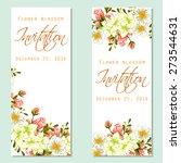 flower blossom. romantic... | Shutterstock .eps vector #273544631