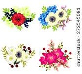 flower set | Shutterstock .eps vector #273545081