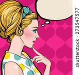 illustration of blonde woman in ... | Shutterstock . vector #273547577