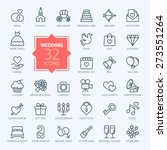 outline web icon set   wedding | Shutterstock .eps vector #273551264