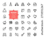 outline web icon set   wedding | Shutterstock .eps vector #273551267