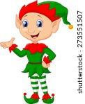 cartoon green elf presenting | Shutterstock . vector #273551507