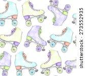 vector seamless watercolor... | Shutterstock .eps vector #273552935