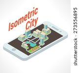 many buildings atop isometric... | Shutterstock .eps vector #273556895