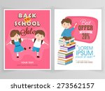 sale flyer  template or banner... | Shutterstock .eps vector #273562157