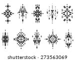 Vector Tribal elements, ethnic collection, aztec style isolated on white background | Shutterstock vector #273563069