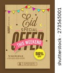 eid special offer template ... | Shutterstock .eps vector #273565001