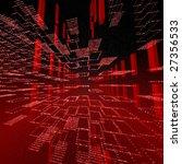 Square Red Matrix Background