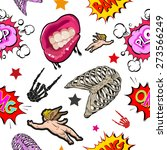 pattern seamless comics... | Shutterstock .eps vector #273566249