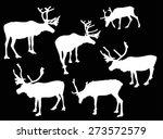 illustration with deer... | Shutterstock .eps vector #273572579