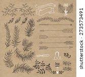 set design. branches  arrows ... | Shutterstock .eps vector #273573491