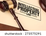 intellectual property law | Shutterstock . vector #273575291