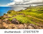 mountain landscape with pacific ...