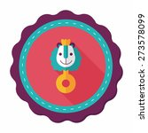 baby rattle flat icon with long ... | Shutterstock .eps vector #273578099