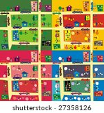 the same street  4 seasons | Shutterstock .eps vector #27358126
