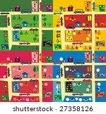the same street  4 seasons | Shutterstock .eps vector #27358126