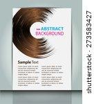 dark brown white color light... | Shutterstock .eps vector #273583427