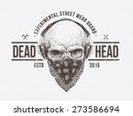 grunge print. skull with...
